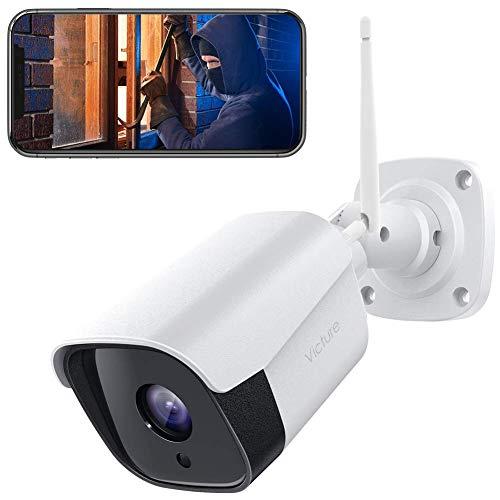 Victure FHD 1080P Telecamera IP esterna, Telecamera di Sicurezza con Rilevazione Movimento Telecamera WiFi con IP66 Visione Notturna Impermeabile 2 Vie Audio Compatibile con IOS/Android