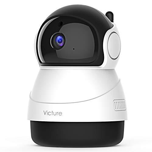 Victure [Nuova Versione] 1080P Telecamera WiFi di Sorveglianza, Videocamera Interna con Rilevamento del Suono e del Mivimento, Audio Bidirezionale, Nuova Applicazione Home