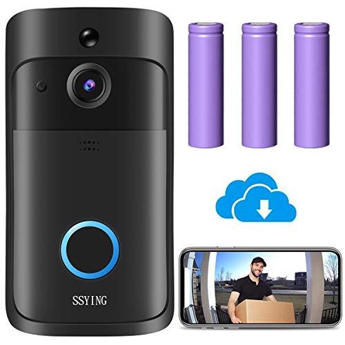 Videocitofono WiFi, Campanello Senza Fili da Esterno Video HD IP66 Visione Notturna,Sensore di Movimento, Audio 2 vie, Visione Notturna, Archiviazione nel cloud