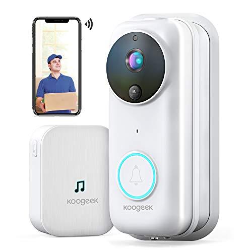 Videocitofono Wifi,Campanello Video HD 1080P Citofono Wifi,Audio Bidirezionale,RIP Detection,Grandangolo 170 °,Visione Notturna a Infrarossi,IP53