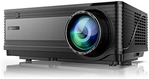 """Videoproiettore, YABER 4800 Lumen Led Proiettore 1080P Supporto Nativa 1080*800, 200""""Display Home Cinema, Videoproiettore Per Iphone, Smartphone Android, Pc, Con Tv/Av/Vga/Usb/Hdmi"""
