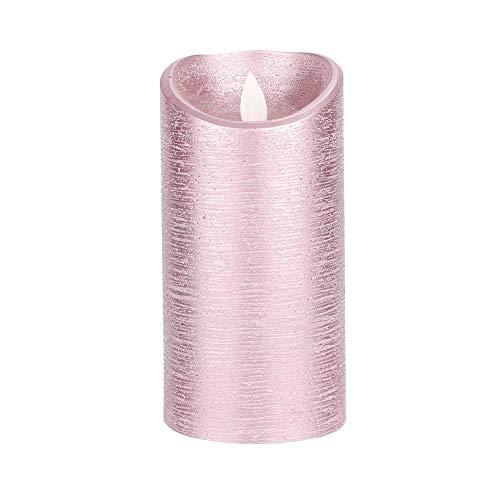 VIFER Candele a LED Candles Light LED Candele Senza Fiamma Lampada Batteria Oro Rosa Fiamma oscillante Candele elettriche per Matrimoni Compleanno(L(7.5x15cm))