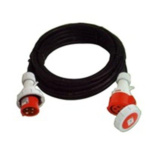 Vigor Blinky 35560-15 Prolunga Industriale, Spina/Presa IP67-380, 20 m, Rossa