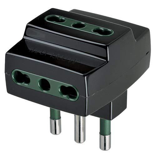 Vimar 0A00321N Adattatore multipresa 3 uscite bipresa S17+3P17/11 nero