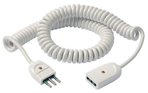 Vimar 0P32352.B Cavo Prolunga Estensibile, 3G0.75, 5 m, Bianco