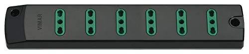 VIMAR FP00406 Presa mobile multipla 2P+T 16 A 250 V,con 6 uscite Bpresa SICURY standard italiano tipo P17/11, fornita senza cavo, nero