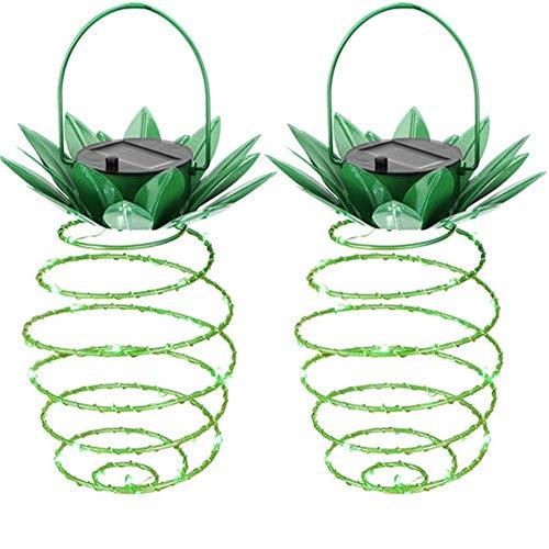 Vingtank Lampada Solare A Forma Di Ananas, Decorazione Per Giardino Lanterna A Luce Solare Lampade A Sospensione per Esterno Impermeabili