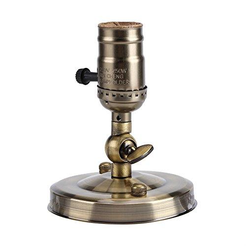 Vintage E27 Applique da Parete in Metallo Portalampada con portalampada con Interruttore per la Cucina di casa Sala da Pranzo Loft Coffee Bar(Bronze)