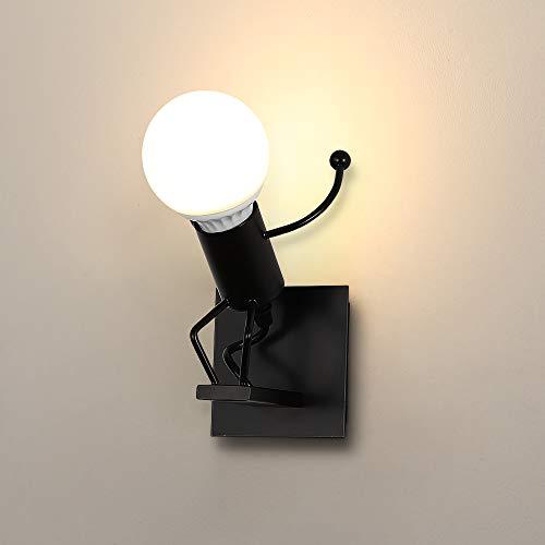 Vintage Lampada da Parete,LED Lampada da Parete Robot,Applique da Parete Retrò,Per Bar,Camera da Letto,Ristorante,Corridoio E27 Luce Proiettore