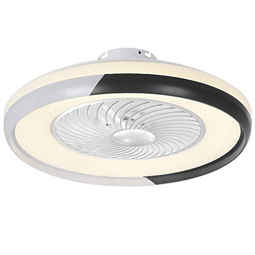 VISLONE - Lampada da soffitto moderna con telecomando, 3 colori, luce a 3 marce, ventole da 50 cm, 220 V, illuminazione a LED per camera da letto, soggiorno, sala da pranzo