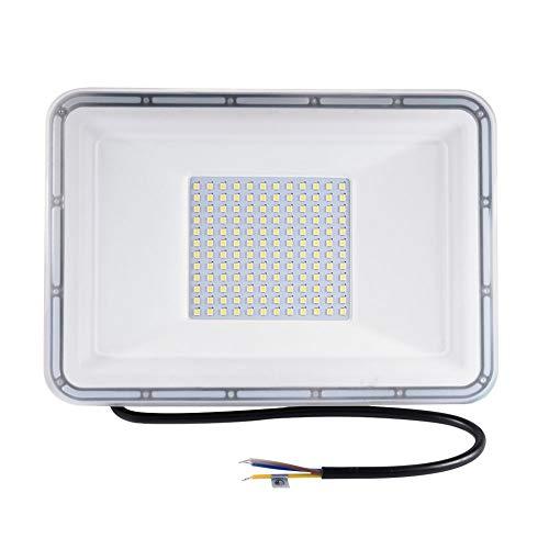 Viugreum Faretto LED da Esterno 100W, IP67 Resistente all'acqua Proiettori per Esterni, Luce Di Sicurezza 10000LM, 3000K Bianco Caldo, Consumo Basso Super Luminoso per Giardino, Magazzino