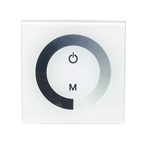 Vosarea - Interruttore di Luce Intelligente WiFi Interruttore Touch con dimmer Touch LED per la Luce Domestica (Bianco)