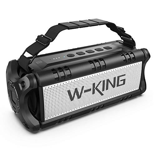 W-KING 50W(Picco 70W) Altoparlante Bluetooth Portatili -24 Ore di Riproduzione - Portatile Speaker con Bassi Potenti - 8000mAh Batteria - TWS Impermeabile Subwoofer per Casa Festa All'aperto (Nero)