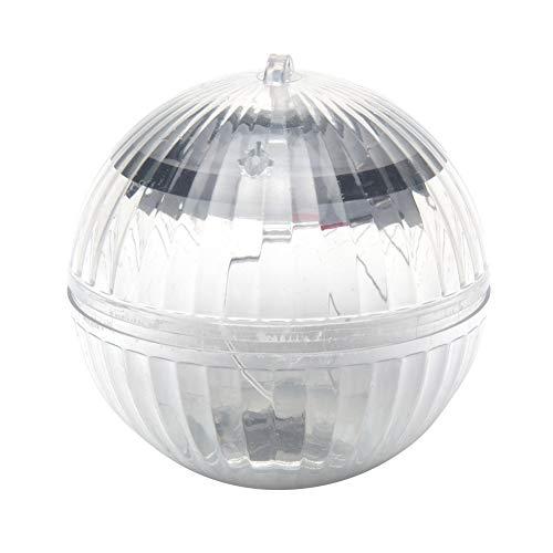 WERTAZ, luce subacquea per piscina, impermeabile, a LED, a energia solare, 7 colori, regolabile, lampada da giardino a sfera per giardino