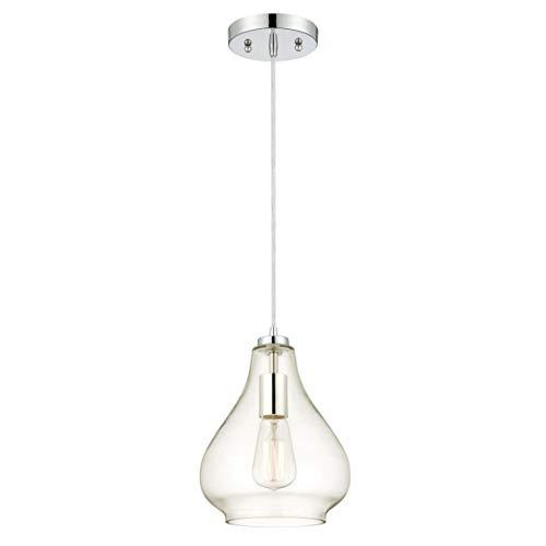 Westinghouse Lampada a Sospensione E27, Cromo, acciaio