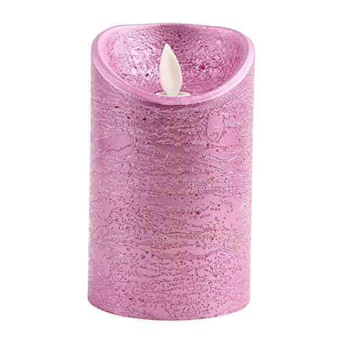 Wifehelper Candele Senza Fiamma a LED Batteria Rose Gold Fiamma oscillante Candele elettriche Matrimoni Perfect Mood Light o Centrotavola(# 3)