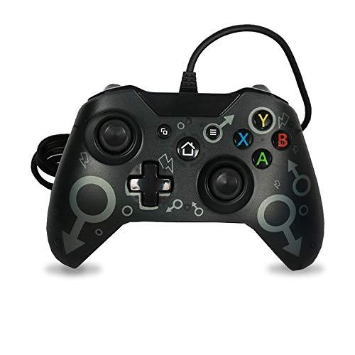 Wired Controller Xbox One Gamepad per Giochi USB Cablato Joypad Joystick di Gioco Microsoft Windows 7/8/10 Joystick per Xbox One/Xbox one X/Xbox One S(Nero)