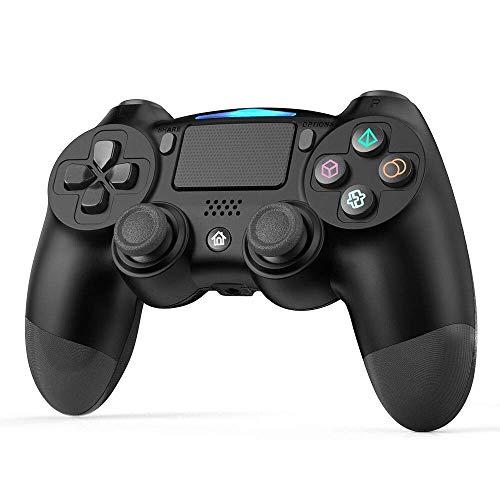 Wireless Controller per PS4, GEEKLIN Controller Di Gioco per Bluetooth, Gamepad per Playstation 4 / Playstation 3 / Joypad Touch Panel per PC con Telecomando a Doppia Vibrazione per Joystick
