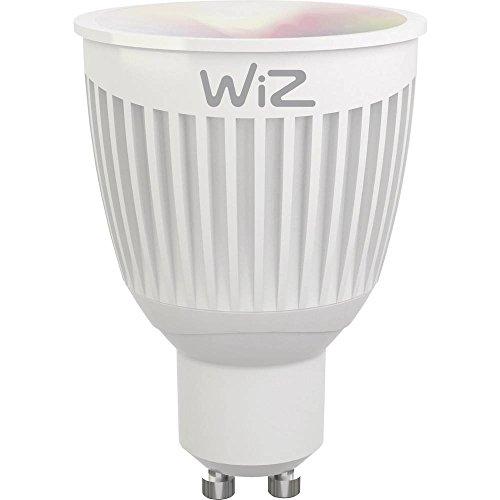 WiZ Colors lampadina LED Smart GU10 WiFi luce bianca e colorata. Dimmerabile, 64.000 tonalità di bianco, 16 milioni di colori. Funziona con Amazon Alexa e Google Home.