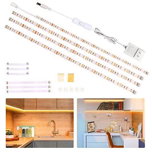 Wobsion striscia led bianco caldo 2m,4X50cm striscia led luce calda,strisce led adesive,strisce led 220v da interno,luci led sottopensile 1200 LM 6000K,led sottopensile cucina,striscia led per cucina…