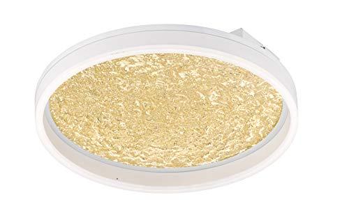 WOFI Bali Lampada da soffitto, Colore: Oro, H: 7 cm x B x L: 40 cm