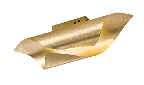 WOFI - Lampada da soffitto per interni, in stile retrò, in plastica, 26 W, colore: Oro