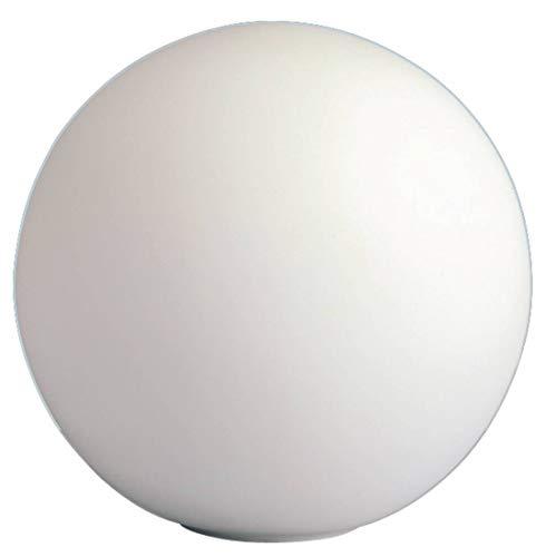 WOFI - Lampada da tavolo Point, in vetro opale, diametro: 20 cm, capacità: 40 W, colore bianco
