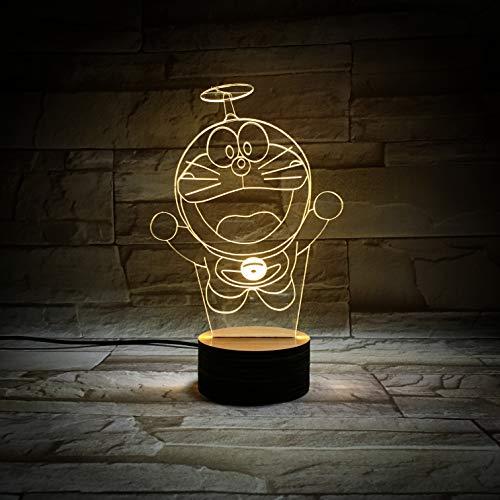WoloShop Doraemon - Lampada LED cambia colore USB, luce notturna