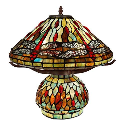 World Art Lampade Stile Tiffany, Multicolore, 43x42x42 Cm