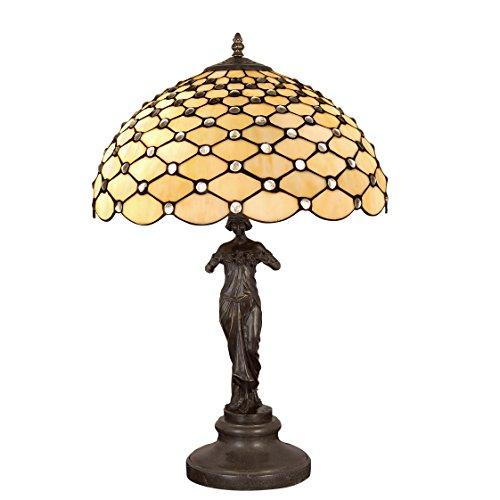 World Art Lampade Stile Tiffany, Multicolore, 62x41x41 Cm