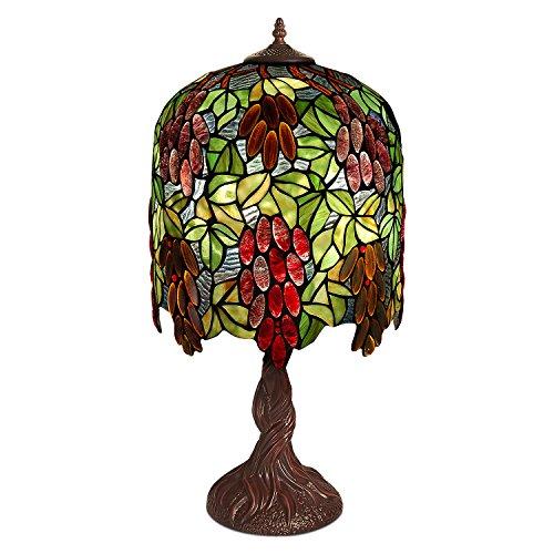World Art Lampade Stile Tiffany, Multicolore, 67x33x33 Cm
