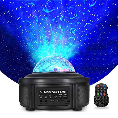 WOWDSGN - Proiettore a LED a forma di cielo stellato, con effetto luce polare, altoparlante Bluetooth con telecomando, ideale per la camera dei bambini, la camera da letto, il soggiorno e le feste