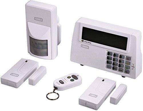 Xavax 111977 Kit Allarme Wireless con 2 magnetici, 1 sensore di Movimento, Telecomando