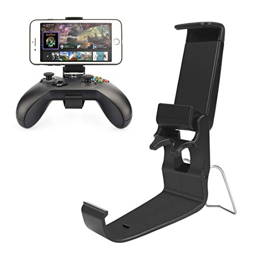 Xbox One Controller Holder, Xbox Phone Mount, Foldable Controller Mobile Phone Holder/Smartphone Cellphone Clamp/Clip for Xbox One/S/X/SteelSeries Nimbus/Stratus XL/Steam Controllers