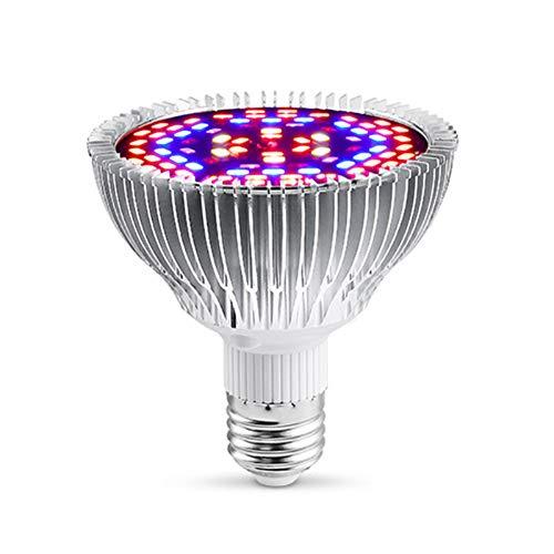 XGzhsa Lampadina a LED per Coltivazione, Lampada per la Crescita delle Piante, Lampadina a LED per Piante a Spettro Completo per Piante da Interno, Fiori, Piante da Serra, Crescita (E27, 30W)