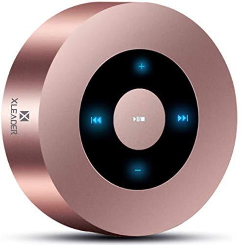 XLEADER SoundAngel A8(3 Gen) 5W Touch Cassa Bluetooth con Custodia impermeabile IPX7, 15h musica, Piccolo Mini Altoparlante Bluetooth Portatili per iPhone ipod Tablet Doccia Regalo Oro rosa
