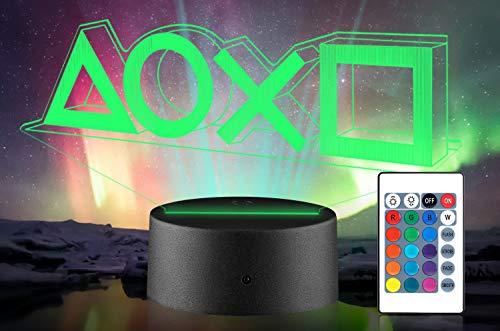 Xpassion Lampada 3D a LED da Tavolo, 16 Colori Dimmerabile 3D Lamp Illusion con Telecomando, Luci 3D Illusioni Ottiche Lampada da Tavolo per Arredamento, Lampada Ragazzi Bambini Decorazione Luce
