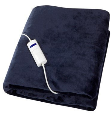 XSQUO Useful Tech Smart Comfort Plus Coperta elettrica XL di Coperta, Divano, TV, Acrilico, Blu Navy, 160 x 120 cm