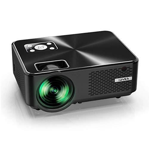 """YABER Proiettore 5500 Lumen Mini Proiettore Portatile 1080P Supporto Nativa 1280*800 LED Videoproiettore 200"""" Display Cinema Domestico Iphone, Android, Laptop, PC, Con Tv/Av/Vga/Usb/Hdmi"""