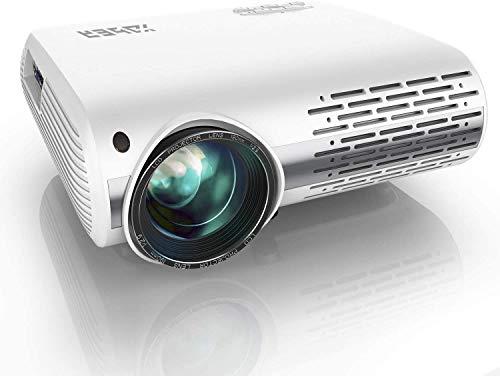 YABER Proiettore 6800 Lumen Videoproiettore Nativa 1080P 4D Keystone Correction ± 50° Led Full Hd Supporto 4K Videoproiettore Domestico/Professionale Per Iphone, Smartphone, Pc, Tvbox, Laptop, Ps4