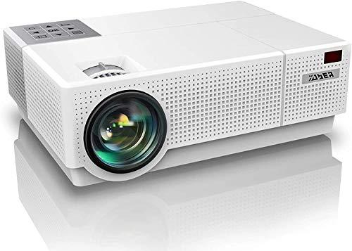 """YABER Proiettore, 7200 Lumen Videoproiettore 1080P Nativa (1920x1080) ±50° Trapezoidale Correzione Led Full Hd 350"""" Videoproiettore Domestico Per Iphone, Smartphone, Pc, Tvbox, Laptop, Ps4"""