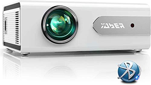 YABER Proiettore Bluetooth, 5500 Lumens Mini Videoproiettore Portatile LED Proiettore 1080P Full HD Home Cinema Compatibile con Smartphone/PC/Tablet/ PS4/TV Stick/DVD/Altoparlante Bluetooth/Cuffie ecc