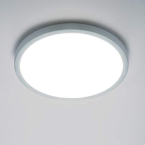 Yafido LED Plafoniera 18W Ultra magro UFO Pannello LED Rotondo Bianco Freddo 6500K 1620LM Lampada da Soffitto per Soggiorno Camera da letto Bagno Cucina Corridoio e Balcone Ø18cm