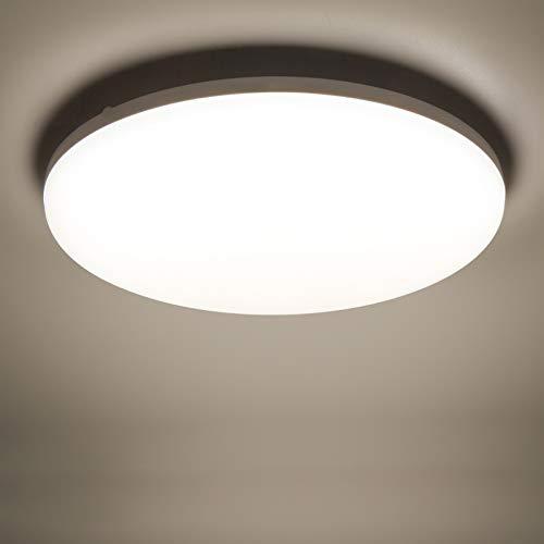 Yafido LED Plafoniera 36W Ultra magro UFO Pannello LED Rotondo Bianca Naturale 4500K 3240LM Lampada da Soffitto per Soggiorno Camera da letto Bagno Cucina Corridoio e Balcone Ø23cm