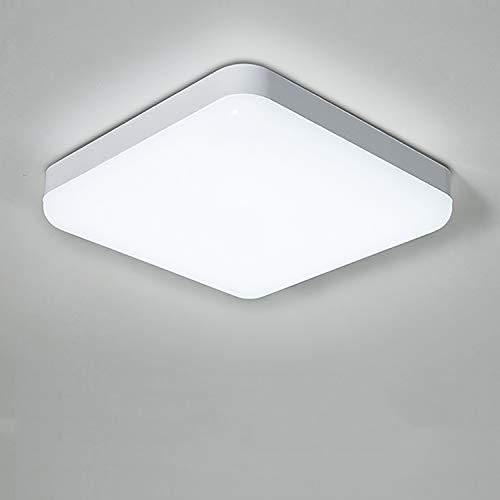 Yafido Plafoniera a LED Impermeabile IP56 30W 2400LM Bianco Freddo 6000K Quadrata Lampada da Soffitto per Cucina, Camera da Letto, Corridoio, Bagno, Balcone, Esterno Ø25CM