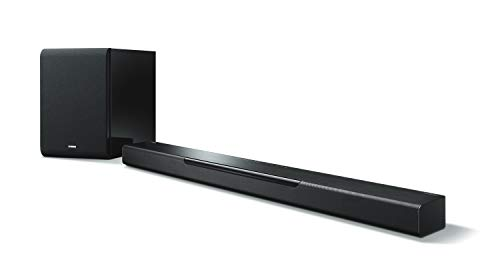 Yamaha MusicCast BAR 40 SW, Soundbar Wifi, Bluetooth, Airplay con Subwoofer Wireless MusicCast, Nero