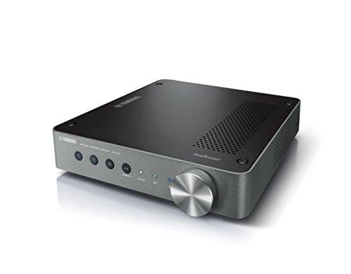 Yamaha MusicCast WXA-50 Amplificatore audio wireless – Finale di potenza per la diffusione di musica in streaming – Multiroom, WiFi, Bluetooth 2.1, Airplay, Design retrò moderno, Argento scuro