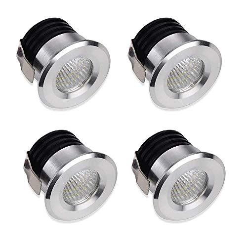 Yeehome 4 x Luci Mini Faretto led da Incasso Mini Faretti 3W LED Per Il Vetrina Station di Interni Illuminazione Cartongesso Incl.Seperated Trasformatore