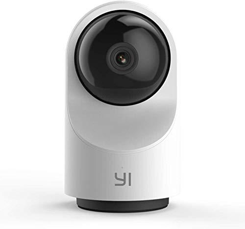 YI Telecamera Wi-Fi Interno 1080p Dome X,Telecamera Sorveglianza Ip Camera Wifi Smart Videocamera di Sicurezza Full HD 360°Pan-tilt,Sensore di Movimento,Time-Lapse,Auto On/Off,supporta micro SD card