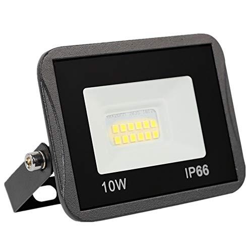 Yinet-EU Faretto LED da Esterno 10W, 1000LM Faro LED Outdoor IP66 Impermeabile 3000K Bianco Caldo Proiettori LED Luce Di Sicurezza per Terrazza, Giardino, Cortile, Parco, Garage